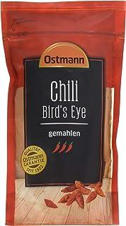 """Ostmann Chili Bird""""s Eye gemahlen 250 g, Chilipulver extrem scharf, feuriges Chiliaroma, ideal für Fleisch- und Pastagerichte"""