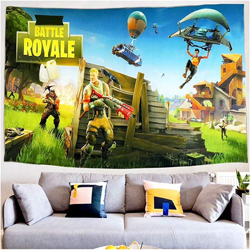 Wall Tapestry Video Game Party Supplies Decoration Wall Hanging Beach Blanket Tablecloth Backdrop Handicrafts Polyester Fabric Tabletop Buffet Home Bedroom Living Room Dorm Wall Decor