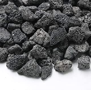 Skyflame Natural Stones Lava Rock Granules for Gas Log Sets | Fireplaces | Fire Pit | BBQ | Cultivation of Potted Plants | Indoor Outdoor Use (5-lb Bag)
