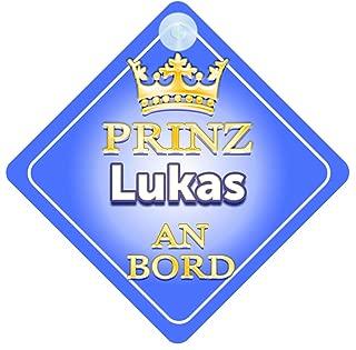 Prinz Fabio An Bord mit Krone Personalisierte Autokennzeichen Neues Baby Junge Pr/äsentieren Kind Geschenk Autoschild /… Baby on Board