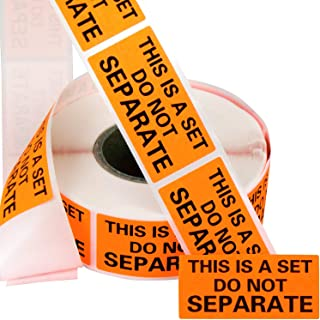 Eucatus Super Adhesive This Is A Set Do Not Separate Stickers 2 Pack. Bulk (1000 Total) Perforated 1 x 2 Self-Adhesive, Sold As Set Labels. FBA-Approved Shipping Supply. Eye-Catching Orange Color (2)
