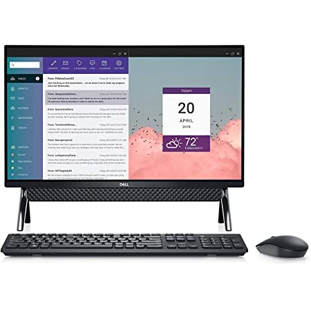 Dell Inspiron 24 Touch All in One 1TB SSD 32GB RAM Extreme (procesador Intel 10th Gen Core i7 con Turbo Boost a 4.90GHz, 32 GB RAM, 1 TB SSD, 24 pulgadas visualización táctil FullHD IPS, Win 10) PC computadora de computadora