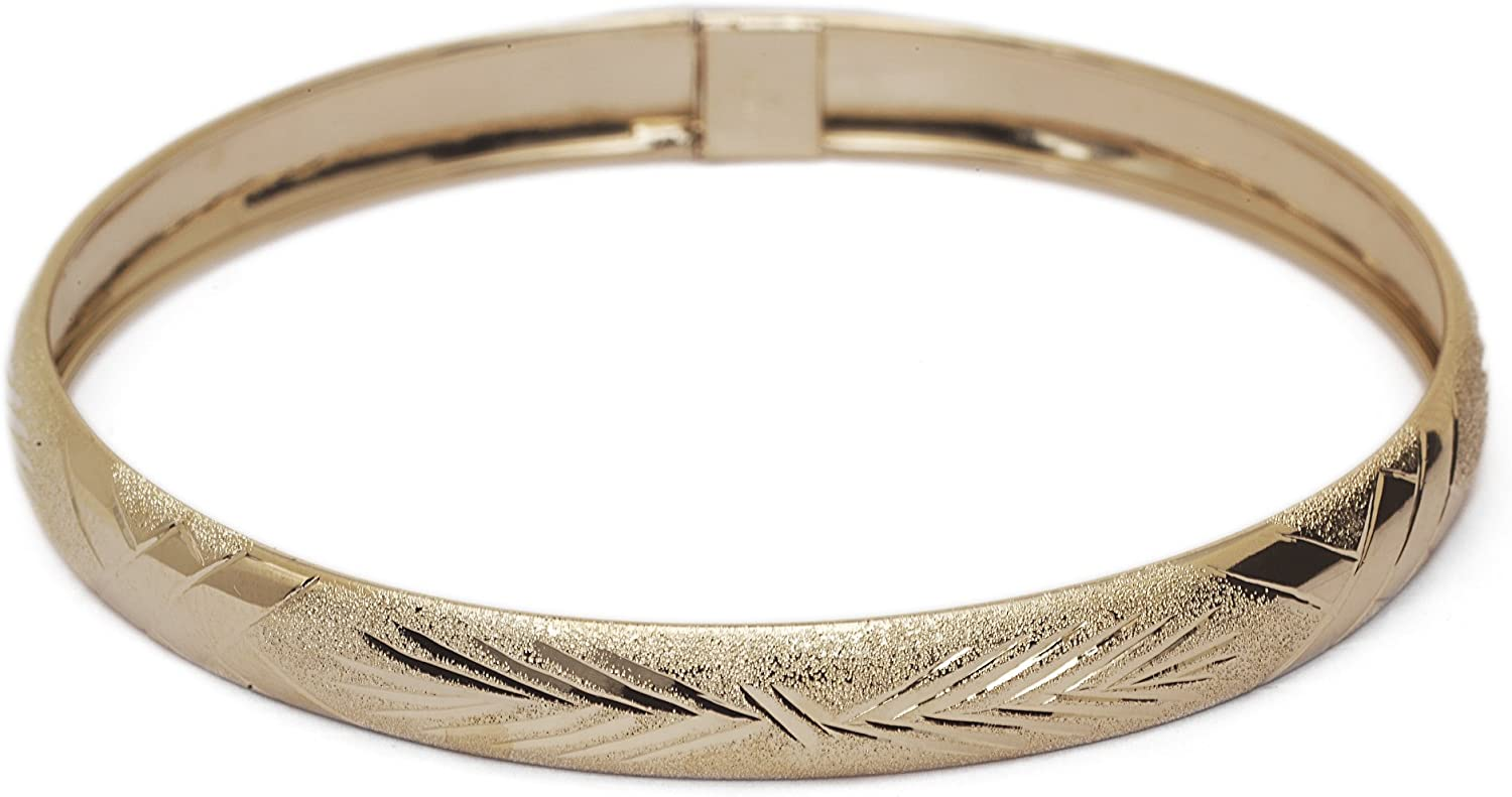 Floreo 10k New product Yellow Cheap super special price Gold 6mm Bangle Bracelet with D Flexible Round