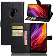 Xiaomi Mi Mix - Wallet PU Leather Case Magnetic Filp Holder Stand Cover -Black