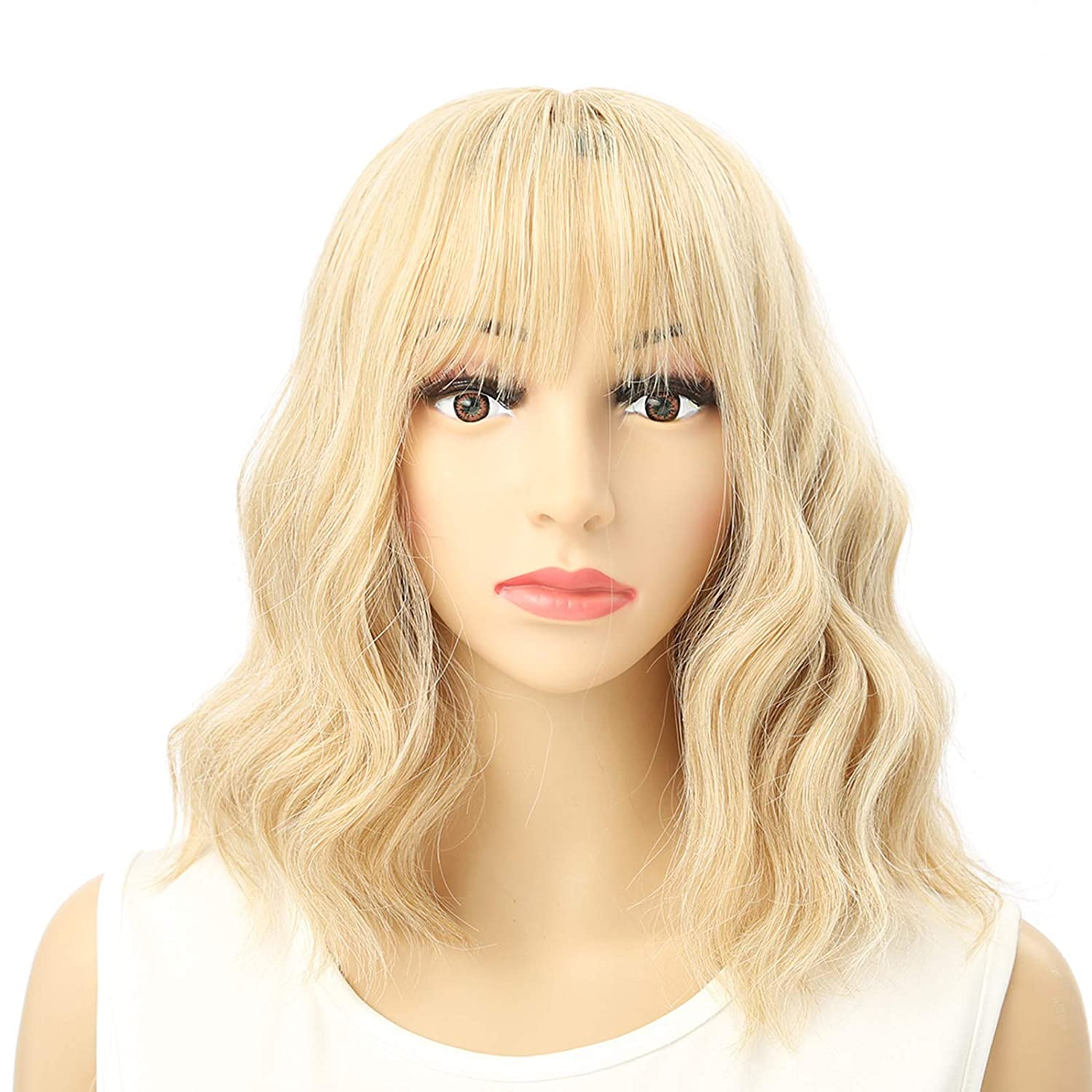 VRbeatter Latest item Blonde Wig Short Bob Wigs Bags Shouder With L Air Finally resale start
