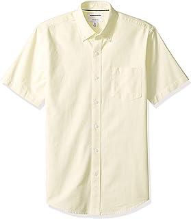 Amazon Essentials Slim-Fit Short-Sleeve Solid Pocket Oxford Shirt Hombre