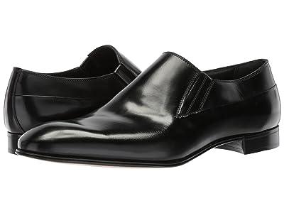Gravati Plain Toe Slip-On (Black) Men