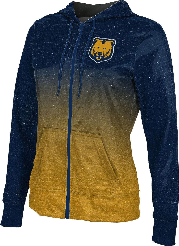 University of Northern Colorado Girls' Zipper Hoodie, School Spirit Sweatshirt (Ombre)