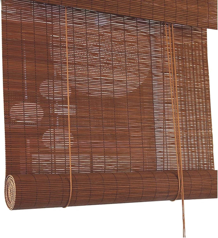 almacén al por mayor KKCF KKCF KKCF Persiana De Bambú Persianas Romanas Projoector Solar Anti-Cracking Durable Personalizable marrón Oscuro,Múltiples Tamaos (Color   A, Talla   80x180cm)  comprar ahora