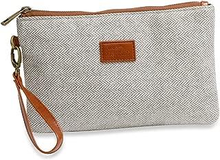 {Grace Collection} FunkyMonkey Fashion Wristlet Wallet Clutch Phone Purse Handbag 3 Sizes Brown/Tan Style