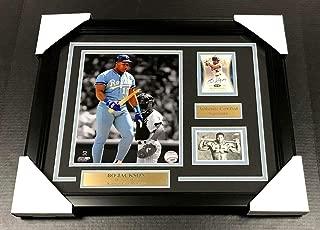 Bo Jackson Autographed BROKEN BAT Card 8x10 FRAMED KNOWS SCORE - MLB Autographed Baseball Cards