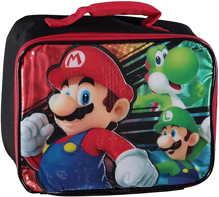 Nintendo Mario 3D Character Lunch Bag Multicolor One Size