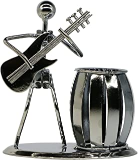 Guitar Pen Holder Creative Desktop Accessories Multipurpose Metal Pencil Holder for Gifts, Kids, Students, and Office Stationary