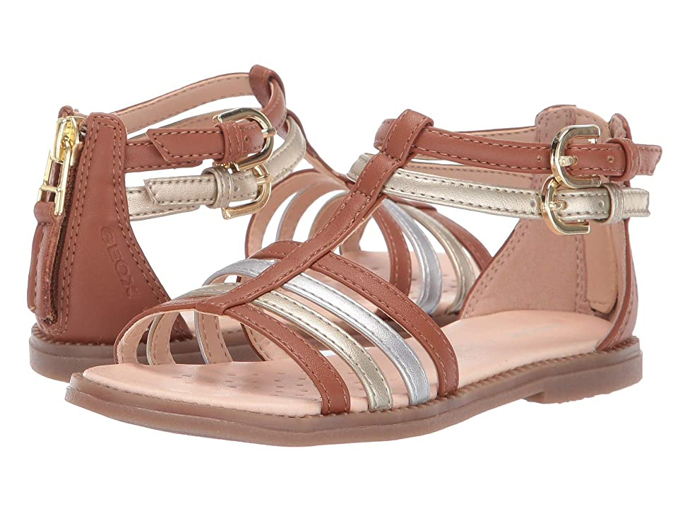 Geox Kids Sandal Karly Girl 29 (Little Kid) (Caramel/Gold) Girl