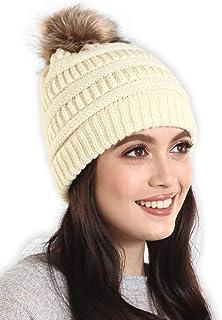 f899ac4c7d816 Amazon.com  pompom beanie hat for women - 4 Stars   Up   Women ...