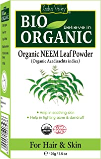 Indus Valley Natural Neem Leaf (Azadirachta) Powder For Hair Shining & Oil Controling Anti Septic Face Mask