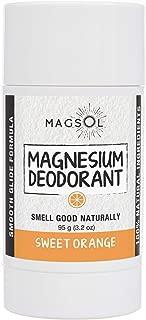MagSol Organics Magnesium Deodorant (Sweet Orange 3.2 oz)