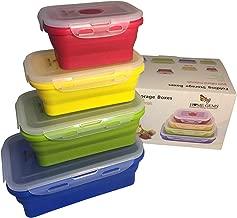 #1 DIYARTS Bolsa Almacenamiento Alimentos Reutilizable Zip Silicona Taza A Prueba DFugas Contenedores Alimentos Resistentes Al Calor Multifuncional BPA Free Recipiente Almacenamiento
