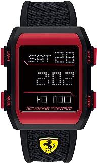Ferrari Men's Quartz Watch with Silicone Strap, Black, 26 (Model: 830739)
