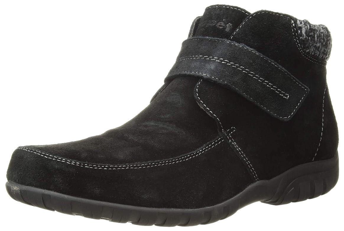悪い保育園推測[Propet] Women's Delaney Strap Black Mid-Top Leather Boot - 6WW