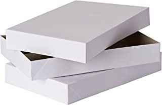 American Greetings Large Gift Boxes with Lids,white, 17 in. x 11 in., 2-Count - 645416634243
