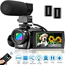 Video Camera Camcorder for YouTube, Aasonida Digital Vlogging Camera FHD 1080P 30FPS 24MP 16X Digital Zoom 3.0 Inch 270� Rotation Screen Video Recorder with Microphone, Remote Control, 2 Batteries