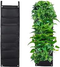 LERTREE 7 Pockets Vertical Gardening Flower Pots Planter Hanging Wall Garden Planting Bags Seedling Wall Planter Growing Bags
