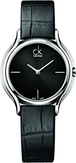 Calvin Klein Womens Quartz Watch, Analog Display and Leather Strap K2U231C1