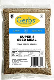 GERBS Ground Super Five Seed Meal, 64 ounce Bag, Top 14 Food Allergy Free, Non GMO -Vegan, Keto, Paleo Friendly