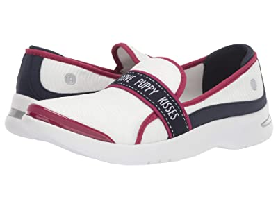Bzees Attraction (White/Red/Navy Lightning Mesh) Women