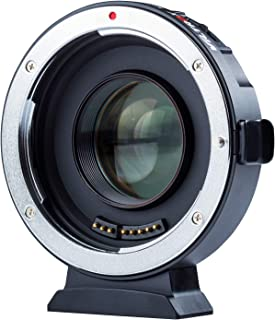 VILTROX EF-M2 II Electronic AF Auto Focus 0.71x Reducer Speed Booster Lens Mount Adapter for Canon EF Mount Lens to M4/3 camera GH5 GH4 GF1 GX85 E-M5 E-M10 E-M10II E-PL3 PEN-F