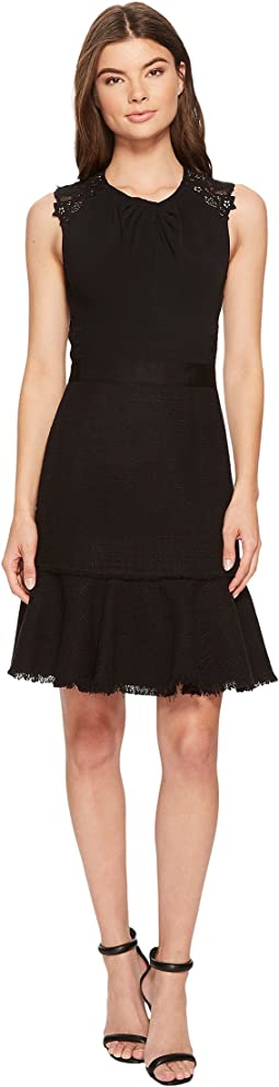 Rebecca Taylor - Sleeveless Tweed & Lace Dress