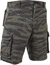 Bellawjace Clothing Tiger Stripe Military Vintage Army Paratrooper Shorts Cargo Shorts