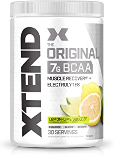 Scivation XTEND Original BCAA Powder Lemon Lime Squeeze | Sugar Free Post Workout Muscle Recovery Drink with Amino Acids |...