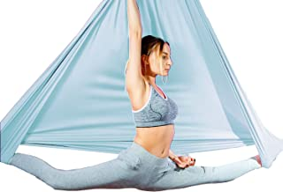 Aum Active Aerial Silks Fabric 4.5x3 Yards, for Aerial Yoga Hammock, Antigravity Yoga Trapeze, Inversion Pilates, Sensory Swing - for Ceiling Height Upto 10ft