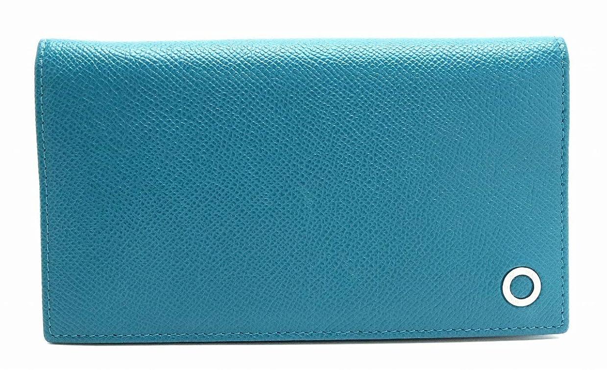 閲覧する芝生周辺[ブルガリ] BVLGARI ブルガリブルガリ レザー 2つ折 長財布 ブルー 青 シルバー金具 [中古]