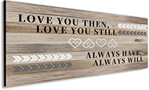 Bedroom Wall Decor Love You Then Love You Still Sign Master Bedroom Wall Decor Rustic Hanging Wooden Wall Sign Inspirational Love Wall Art Living Room Bedroom Bathroom Decor for Couples