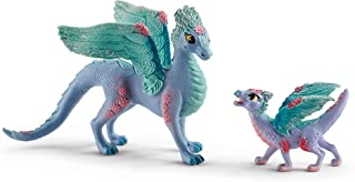 Schleich bayala, 2-Piece Playset, Dragon Toys for Girls and Boys 5-12 years old, Flower Dragon and Baby