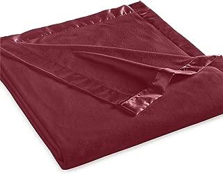 Martha Stewart Easy Care Soft Fleece Blanket (King, Scarlet)