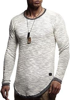 LEIF NELSON Herren Pullover Rundhals-Ausschnitt   Schwarzer Männer Longsleeve   dünner Pulli Sweatshirt Langarmshirt Crew Neck   Jungen Hoodie T-Shirt Langarm Oversize   LN6367