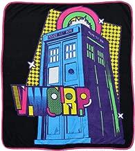 Doctor Who Blanket Tardis Pop Art Micro Raschel Afghan Throw Blanket 50x 60