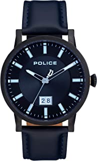 Bevilles Police Collin Black Dial Watch Model PL15404JSB/02 Leather 3 Hands 4895148692318 Blue