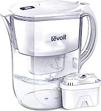 پمپ آب فیلتر LEVOIT، تصفیه کننده با 10 لیتر / 2.5 لیتر بزرگ، شاخص فیلتر الکترونیکی، بدون فیلتر BPA، 5 لایه برای کلر، سرب، فلزات سنگین و بوی، گارانتی 2 ساله، LV110WP