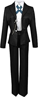 Mens Black School Uniform Suit Outfit Cosplay Costume
