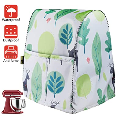 Stand Mixer Cover/Kitchen Mixer Cover with Organizer Bag, Fits All Tilt Head & Bowl Lift Models(W14D11H17in,Fallow Deer)