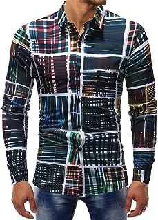 HX fashion Camisa Vrtur Camisa Para Estampada De Blusa Hombre Camisa Tamaños Cómodos De Manga Larga Camisa De Ocio Estilo ...