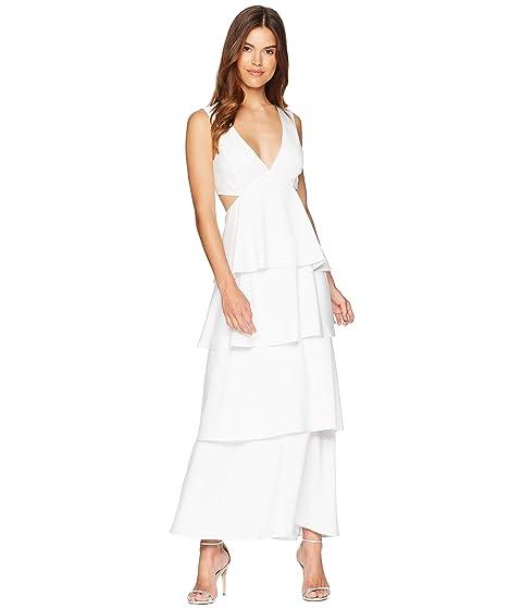 blanco Tier Cut Bardot Out vestido nAqca8