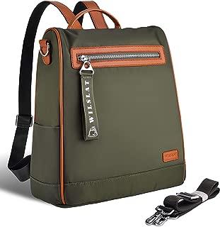 Women's Travel Backpack Purse, Lightweight Waterproof Anti-Theft Convertible Shoulder Bag for College Work Black ArmyGreen (ArmyGreen)