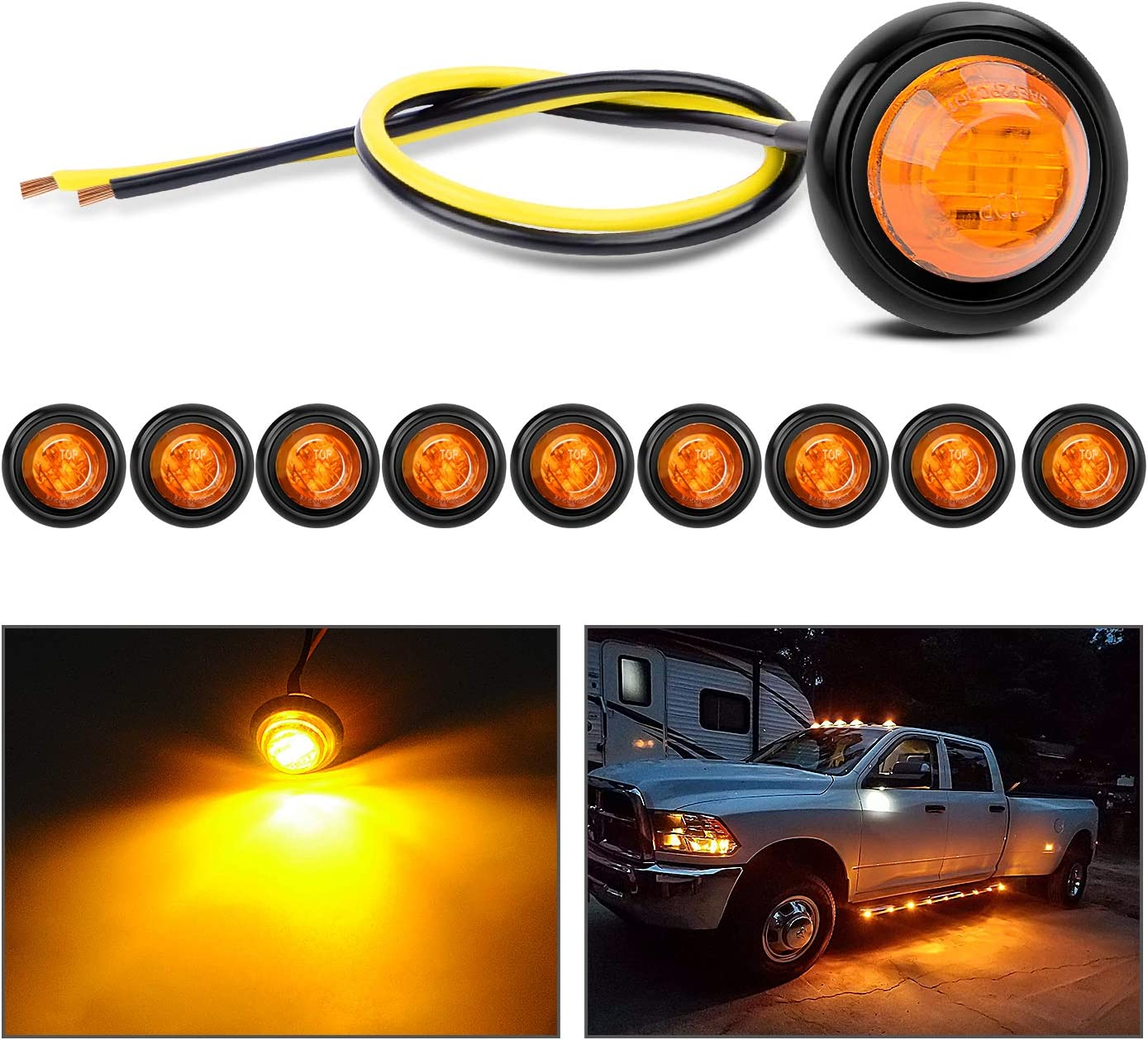 """Nilight TL-03 10 PCS 3 4"""" Fixed price for sale Clearance Rear Si Round Sale special price LED Front"""