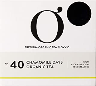 Ovvio Organics No 40 Chamomile Days Organic Silk Teabags 20's, 55 g, Chamomile Days